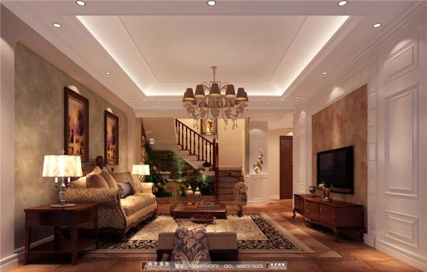 中德英伦联邦客厅细节效果图--成都高度国际装饰设计