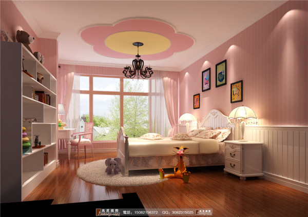中德英伦联邦儿童房细节效果图--成都高度国际装饰设计
