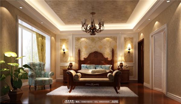 中德英伦联邦卧室细节效果图--成都高度国际装饰设计