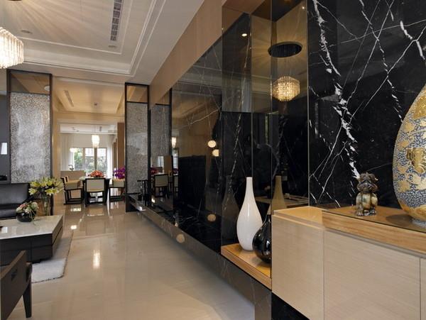 大理石的设计整体质感强烈。