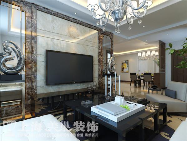 蓝堡湾189平五室两厅法式简约装修效果图--电视背景墙