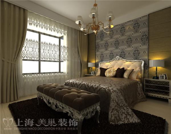 蓝堡湾189平五室两厅法式简约装修效果图--主卧