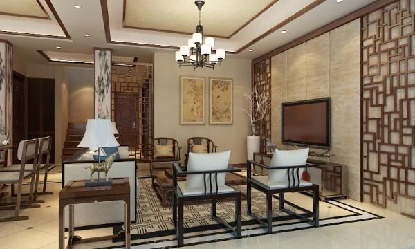 绿洲香岛花园别墅户型装修新中式风格设计方案展示,上海聚通装潢最新设计案例,欢迎品鉴!