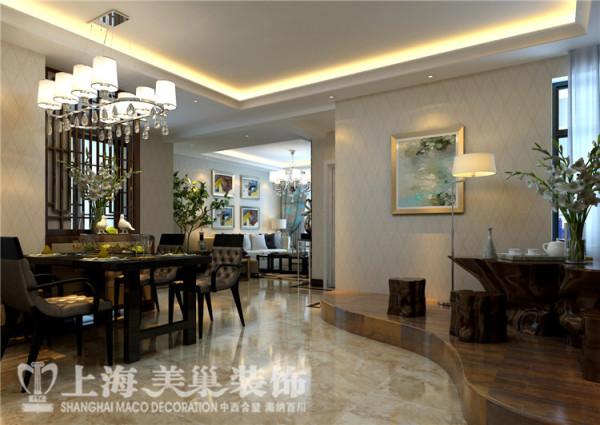 蓝堡湾189平五室两厅法式简约装修效果图--客餐厅