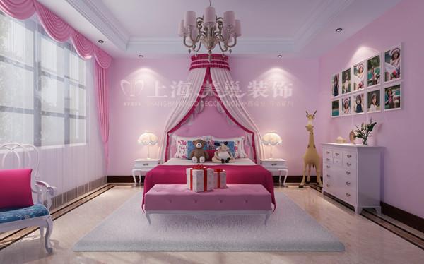 新中式装修普罗旺世600平别墅公主房效果图,独立的空间展现童话般的温馨浪漫
