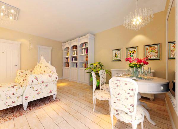 在材料选择上多倾向于光挺、华丽的材质。餐厅基本上都与厨房相连,在与餐厅相对的厨房的另一侧,一般都有一个不太大的便餐区,这两个区域会同起居室连成一个大区域,成为家庭生活的重心。