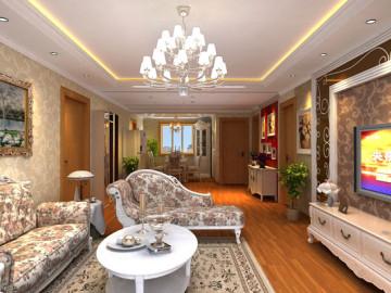 上海静安100平米简欧风格