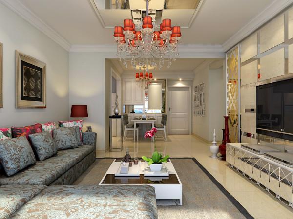 现代简约风格中的餐厅设计在舒适氛围中更加突出实用价值,客厅与餐厅相连,但设计师把不规则的空间充分利用,让人感受到空间的通畅与广阔,感受不受界限约束的家居感受。