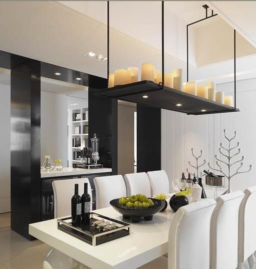 白色的设计搭配着黑色的饰品,整体大气、美观。