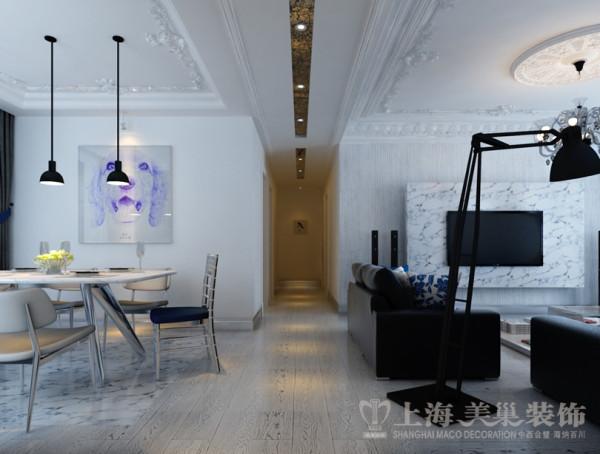中豪汇景湾三室两厅法式简约装修案例效果图-走廊