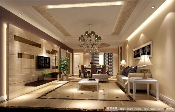 中环岛客厅细节效果图---成都高度国际装饰设计