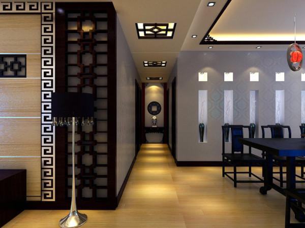 在其他配饰方面,主要以木制品为主,工艺花格在本设计中被大量的运用,使中式风格的特点更加突出。