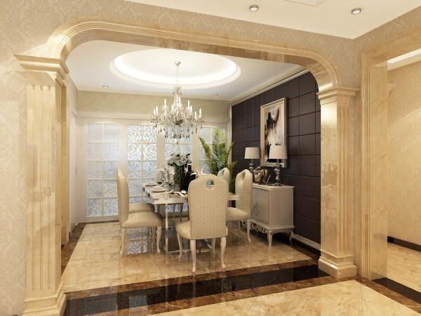 园博府(134平)欧式风格-三居室户型餐厅效果图