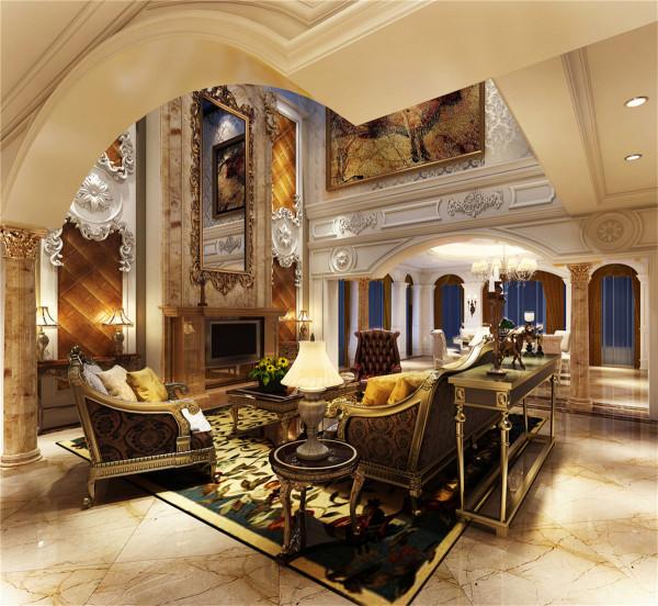 逸庭湾挑空别墅装修奢华欧式风格设计方案展示,上海聚通装潢最新设计,欢迎品鉴!