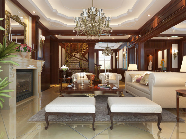 招商海廷别墅户型装修欧式风格设计方案展示,上海聚通装潢最新设计案例,欢迎品鉴!