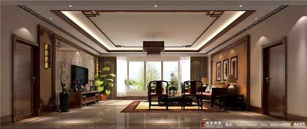 龙湖悠山郡客厅细节效果图---成都高度国际装饰