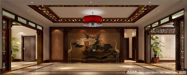 龙湖悠山郡门厅细节效果图---成都高度国际装饰