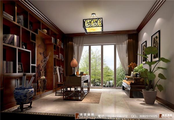 龙湖悠山郡书房细节效果图---成都高度国际装饰