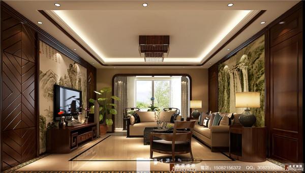 麓山国际客厅细节效果图--成都高度国际装饰设计