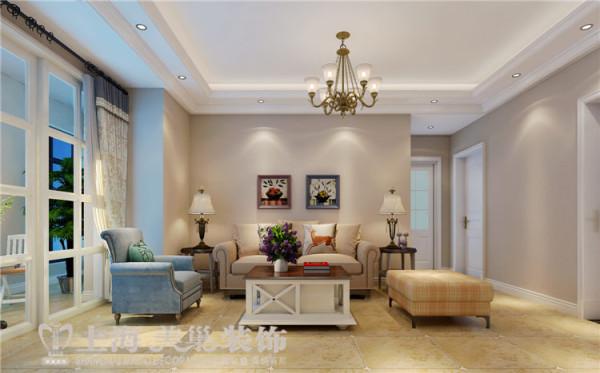 天骄华庭89平3室2厅简美风格装修案例——客厅装修效果图
