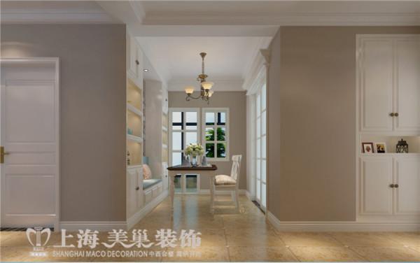 天骄华庭89平3室2厅简美风格装修方案——过道装修效果图