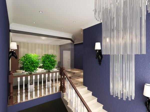 走廊位置水晶吊灯设计效果