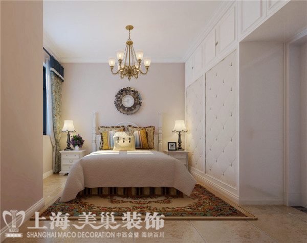 天骄华庭89平3室2厅简美风格装修案例——主卧装修效果图