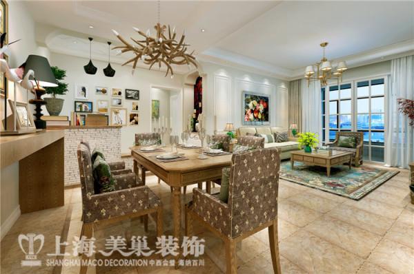 美景鸿城140平方三室两厅简欧风格装修效果图-餐厅