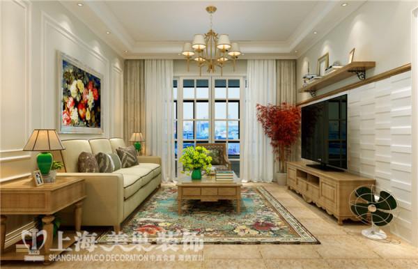 美景鸿城3室2厅简欧风格装修样板间-客厅装修效果图