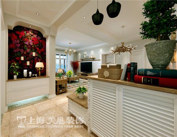 郑州美景鸿城三室两厅简欧风格装修方案-门厅装修效果图