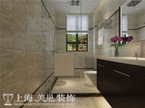 鑫苑世纪东城120平三室两厅现代简约风格装修案例——卫生间装修效果图