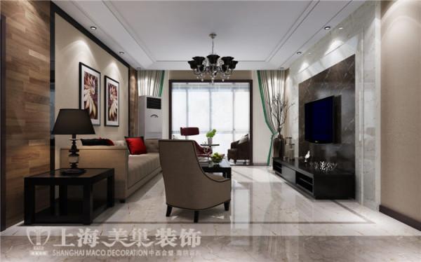 鑫苑世纪东城120平三室两厅现代简约风格装修样板间——客厅装修效果图