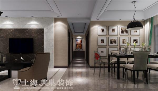 鑫苑世纪东城120平三室两厅现代简约风格装修样板间——客餐厅装修效果图
