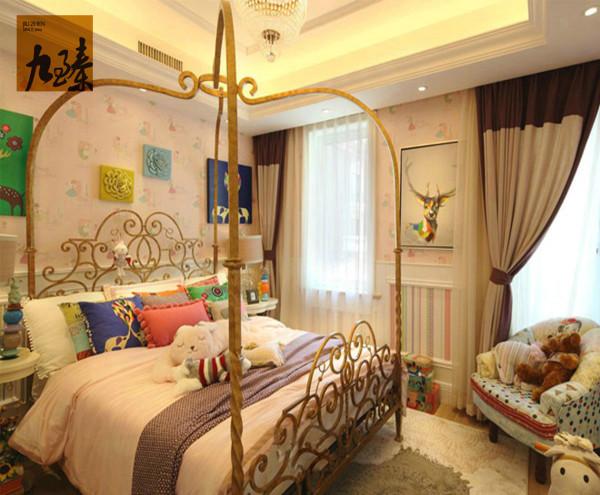 天津今朝装饰设计半湾半岛欧式别墅卧室