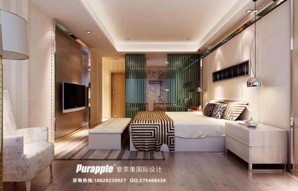 卧室 效果图 现代风格 天鹅湖 成都紫苹果装饰