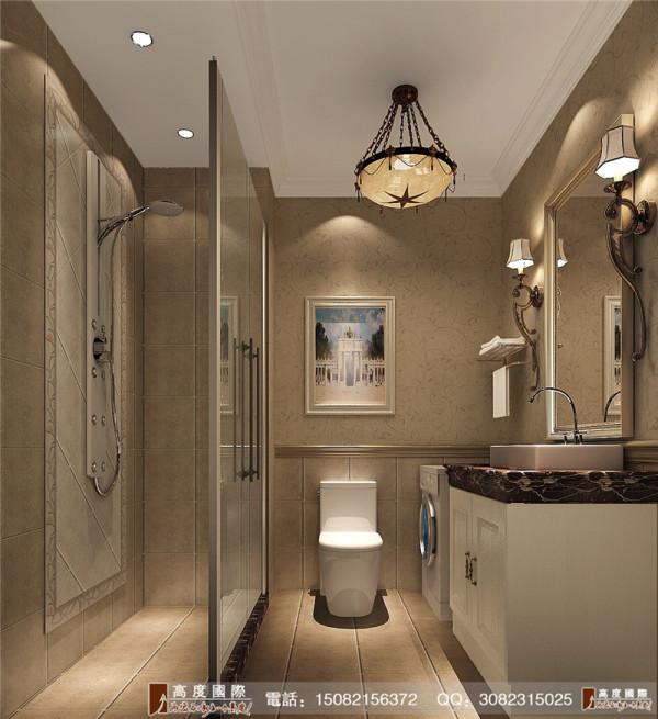 中海九号公馆卫生间细节效果图--成都别墅装饰设计
