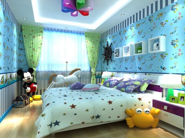 本空间为一个7岁的小女孩所设计的儿童房,喜欢蓝色,蓝色是神秘而宁静的色彩,给人以沉静、清澈的感觉,大概也与对天空、大海的联想分不开。