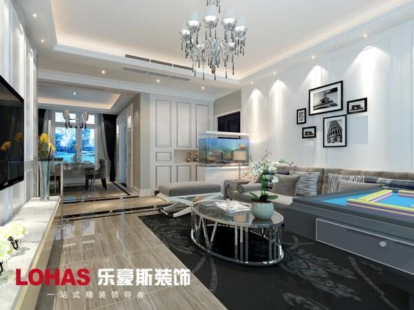客厅安装中央空调和灯带的处理。