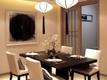 兰亭都荟三室二厅新中式风格欣赏