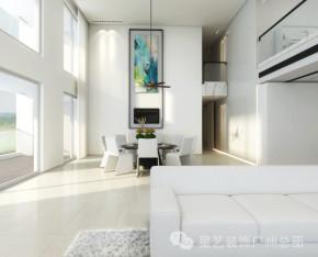 白富美 复式 北欧风格 江景 简洁 落地窗 餐厅图片来自星艺装饰集团广州总部在白富美的最爱,270°江景尽收眼底的分享