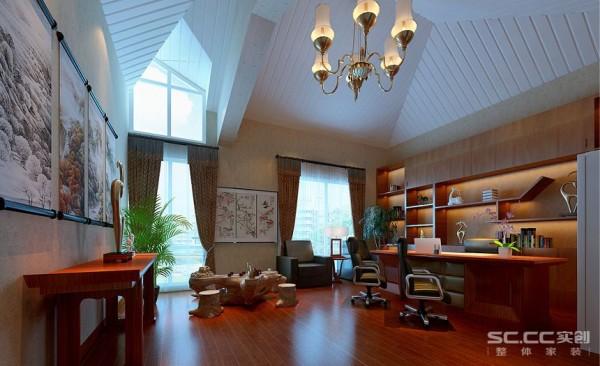 休闲房设计: 营造中式感觉的娱乐室,设计上就有所挑战,地面地毯的铺设,和天花造型和中式灯具的搭配,会让两种元素相互融合,不会显得格格不入