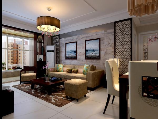 回眸大厅,黑色与暖红橙是设计师的主选色调.深色的沙发和茶几,咖啡色的纱帘与纯白色的天花板有规律的交叠,蕴含低调的中式韵味;