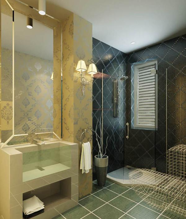 怡佳家园(135平)四居室户型现代简约风格卫生间效果图展示