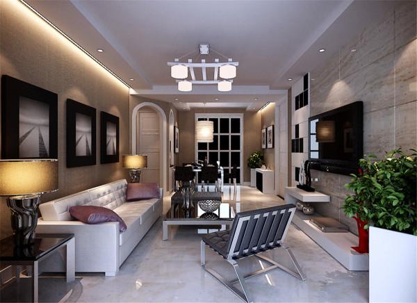 绿地南桥新苑三居室户型装修现代风格设计方案展示——上海聚通装潢!