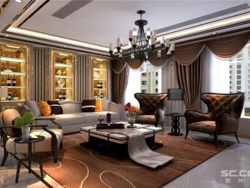 低奢欧式254㎡古典风的巴黎之家