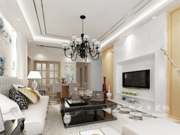 前海广场二居室现代简约设计方案