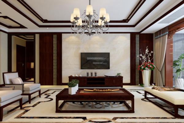 石家庄业之峰装饰-盛邦大都会210平米简约中式风格装修效果图