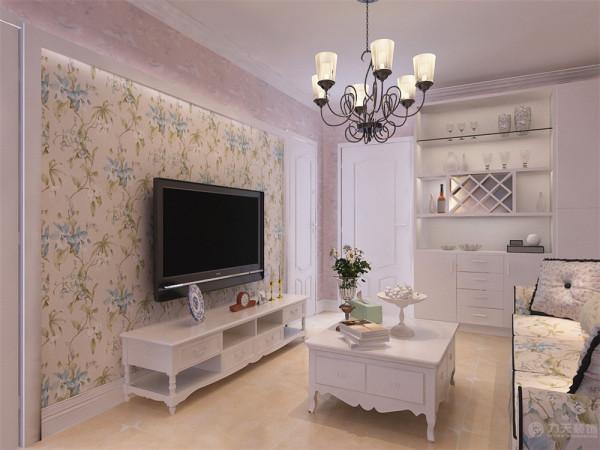 该户型为宏泰公寓小区一室一厅一厨一卫62平米经典中单户型,设计风格为田园风格。