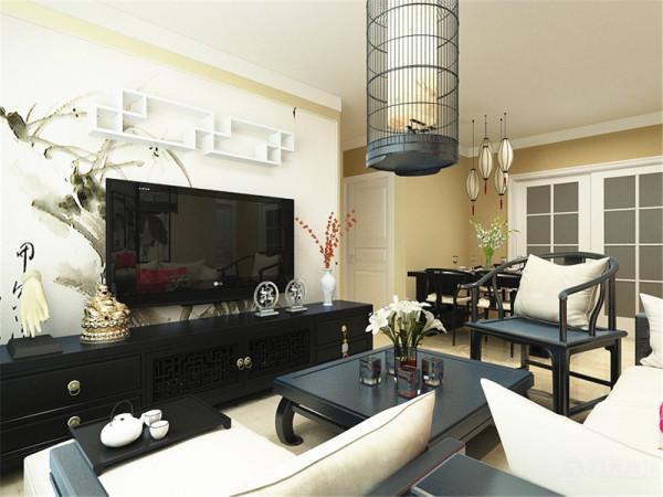 该户型中建幸福城两室一厅一厨一卫85㎡,方正明亮,适于设计。我的设计风格是新中式。