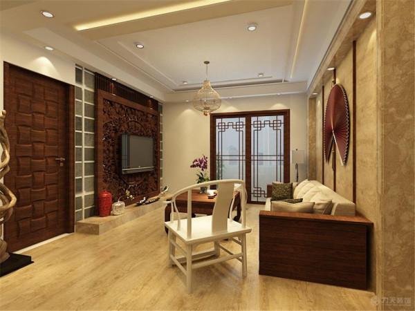本户型为中国铁建国际城户型图二期高层两室一厅一厨一卫88.00㎡的户型,设计风格为新中式风格